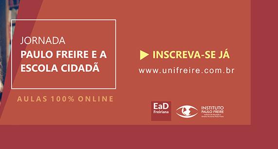 Jornada 'Paulo Freire e a Escola Cidadã' tem inscrições abertas até 21 de fevereiro