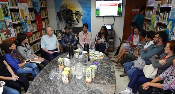 Kombou Boly Barry, da ONU, visita Instituto Paulo Freire