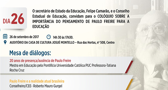 Colóquio sobre a importância do Pensamento de Paulo Freire acontece no Maranhão