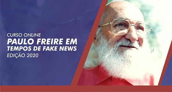 Inscrições abertas, até 1 de abril, para o Curso 'Paulo Freire em tempos de fake news'