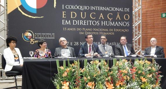 IPF participa do Colóquio Internacional sobre Educação em Direitos Humanos, realizado em Brasília